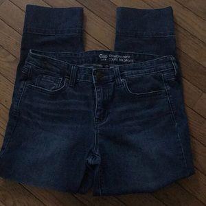 Gap straight crop coupe 3/4 droite jeans
